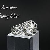 Украшения handmade. Livemaster - original item Men`s Ring Octagram Openwork in silver 925 GV0002. Handmade.