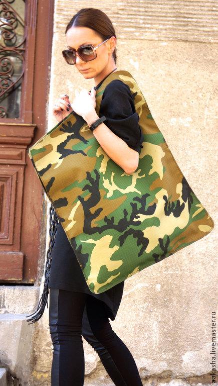сумка объемная сумка вместительная сумка большая сумка хаки женская сумка хаки цвет сумка ручной работы большая сумка