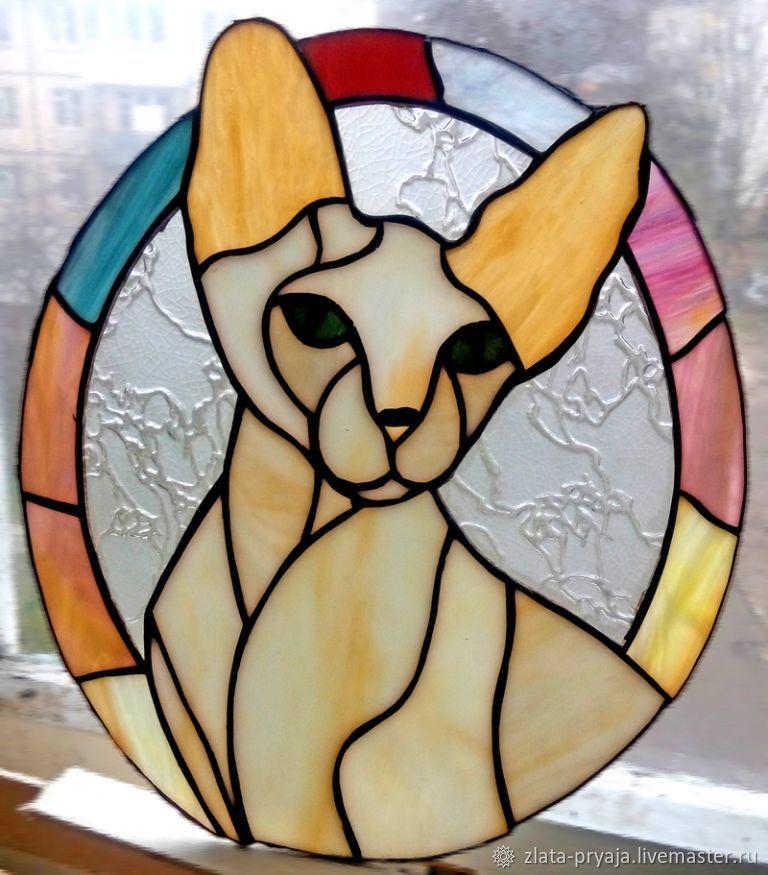 грамотном витраж на кошачий фото породы