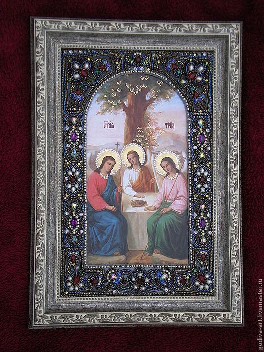 Иконы ручной работы. Ярмарка Мастеров - ручная работа. Купить Икона Святой Троицы. Handmade. Православная икона, вера, оберег