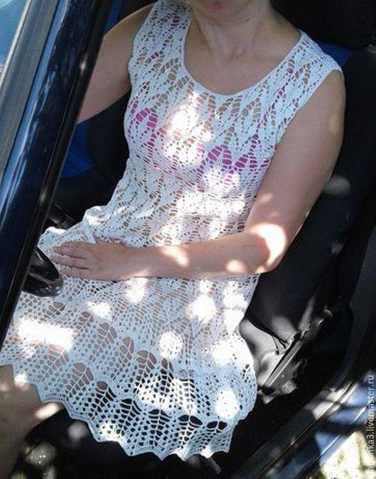 Платья ручной работы. Ярмарка Мастеров - ручная работа. Купить Платье. Handmade. Белый, девушке, платье вязаное, море
