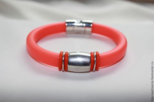 Браслеты ручной работы. Ярмарка Мастеров - ручная работа. Купить браслет Оранжевый. Handmade. Оранжевый, регализ испания, силиконовый шнур