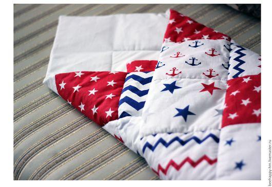 """Для новорожденных, ручной работы. Ярмарка Мастеров - ручная работа. Купить Конверт одеяло """"Морская звезда"""". Handmade. Комбинированный"""