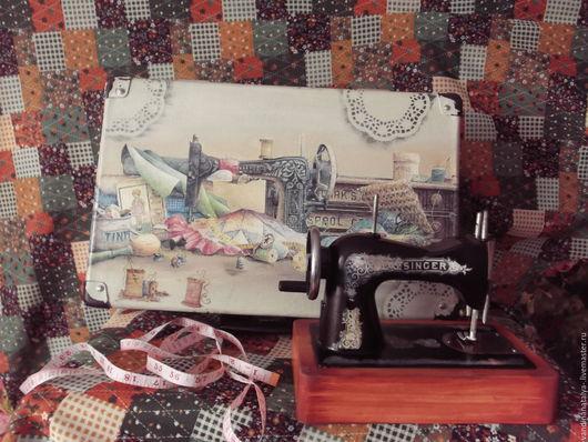 Органайзеры для рукоделия ручной работы. Ярмарка Мастеров - ручная работа. Купить Чемодан для швеи. Handmade. Чемодан, швейные принадлежности