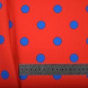 Материалы для творчества handmade. Livemaster - original item Fabric polka dot fabric red peas, fabric in black-eyed peas. Handmade.