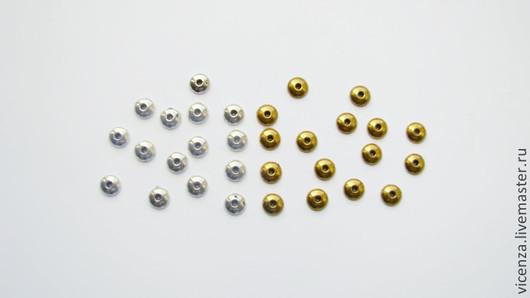 Маленькая шапочка для бусин 6 мм,гладкая\r\nЦвет бронза, античное серебро, античное золото, медь. Для украшений. Рукоделкино.
