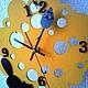 """Часы для дома ручной работы. Часы настенные на кронштейне """"Чей сыр?"""". Миленькие штучки (chasovschik). Ярмарка Мастеров. Часы оригинальные"""
