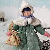 Подарки к праздникам ручной работы. Ярмарка Мастеров - ручная работа Ватная елочная игрушка АННУШКА. Handmade.