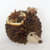 Куклы и игрушки ручной работы. Ярмарка Мастеров - ручная работа Кофейный ёжик. Handmade.