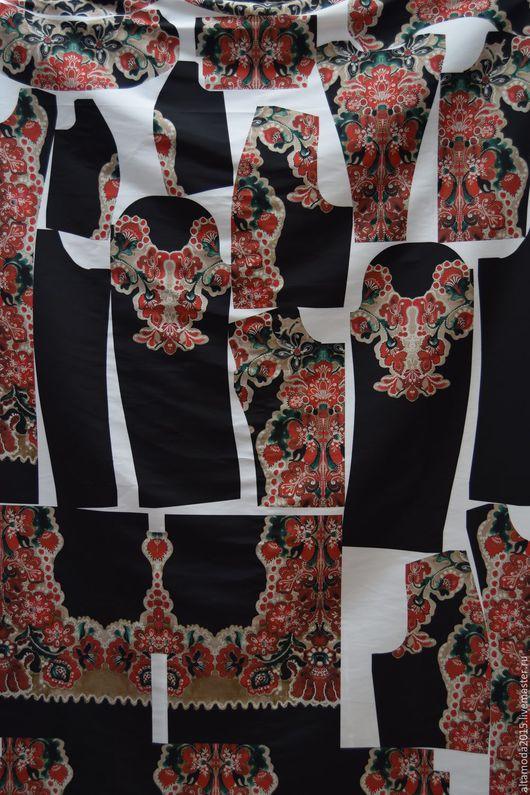 Шитье ручной работы. Ярмарка Мастеров - ручная работа. Купить Плащевая Red Valentino Купон - Лекало итальянские ткани. Handmade.