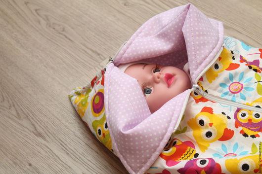 Для новорожденных, ручной работы. Ярмарка Мастеров - ручная работа. Купить конверт на выписку. Handmade. Бледно-сиреневый, конверт на выписку