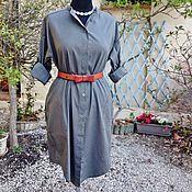 Одежда ручной работы. Ярмарка Мастеров - ручная работа Платье-рубашка, хлопок 100%. Handmade.
