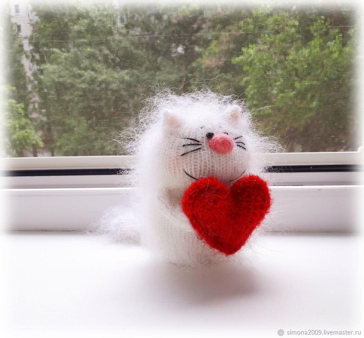 Котик с сердечком. Влюблённый. подарок. сувенир – заказать ...