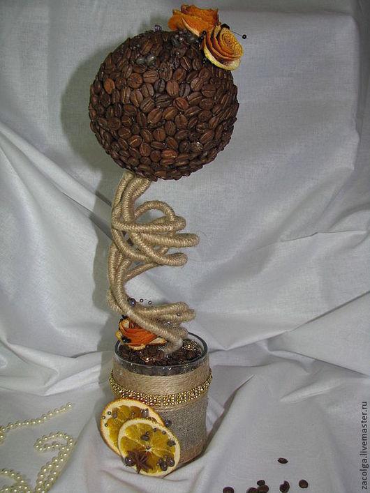 Топиарии ручной работы. Ярмарка Мастеров - ручная работа. Купить Кофейный топиарий. Handmade. Коричневый, роза, кружка, топиарий из кофе