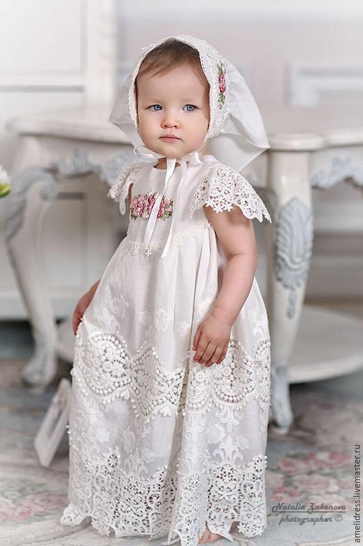 Одежда для девочек, ручной работы. Ярмарка Мастеров - ручная работа. Купить само очарование. Handmade. Белый, нежность, хорошие традиции