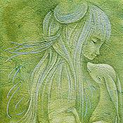 Картины и панно ручной работы. Ярмарка Мастеров - ручная работа Скоро Осень... Сказочная картина фэнтези. Принт на холсте. Handmade.