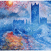 Картины и панно ручной работы. Ярмарка Мастеров - ручная работа Английский парламент (вольная копия). Handmade.