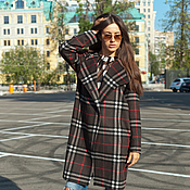 Одежда handmade. Livemaster - original item Cashmere coat in the cell from AMODAY. Handmade.