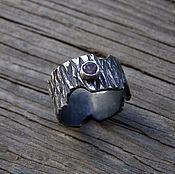 """Украшения ручной работы. Ярмарка Мастеров - ручная работа Кольцо из серебра """"Кора с аметистом"""", кольцо кора дерева,кольцо дерев. Handmade."""
