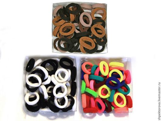Другие виды рукоделия ручной работы. Ярмарка Мастеров - ручная работа. Купить Резинки для волос (по 45шт) маленькие в коробках основа. Handmade.