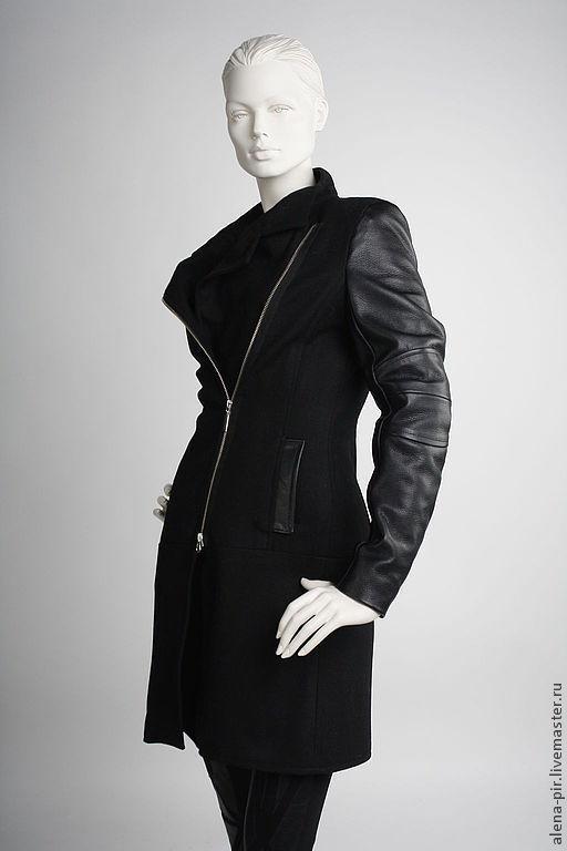 Верхняя одежда ручной работы. Ярмарка Мастеров - ручная работа. Купить Зимнее пальто. Handmade. Черный, теплое пальто