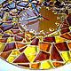 """Часы """"Золотая мозаика"""" из стекла. Фьюзинг, Часы для дома, Березники, Фото №1"""