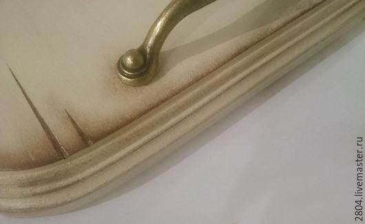 Кухня ручной работы. Ярмарка Мастеров - ручная работа. Купить Поднос деревянный Поднос для закусок Поднос из дерева. Handmade. Бежевый