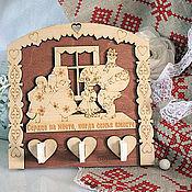 """Для дома и интерьера ручной работы. Ярмарка Мастеров - ручная работа Ключница """"Сердце на месте..."""". Handmade."""