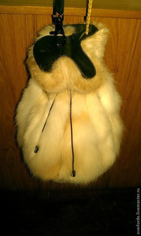 """Женские сумки ручной работы. Ярмарка Мастеров - ручная работа. Купить Сумочка-кисет """"Снежинка"""". Handmade. Белый, кролик, повседневная"""