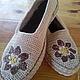 """Обувь ручной работы. Ярмарка Мастеров - ручная работа. Купить Мокасины вязаные """"Лето"""" (улица). Handmade. Бежевый, вязаная обувь"""