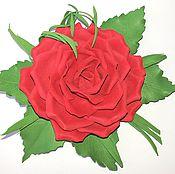 """Украшения ручной работы. Ярмарка Мастеров - ручная работа Брошь """"Красная роза"""" из фоамирана. Handmade."""