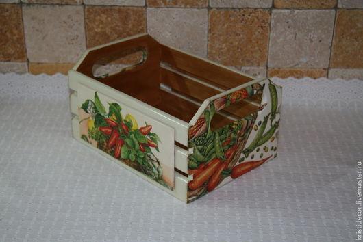 Корзины, коробы ручной работы. Ярмарка Мастеров - ручная работа. Купить Средняя корзинка для овощей - 3. Handmade. Короб, лук