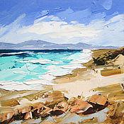 Картины и панно handmade. Livemaster - original item Oil painting Sea Rocky Beach Seascape. Handmade.