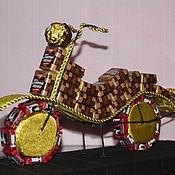 Подарки к праздникам ручной работы. Ярмарка Мастеров - ручная работа Мотоцикл из конфет. Handmade.