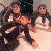 Куклы и игрушки ручной работы. Ярмарка Мастеров - ручная работа Новогодние обезъянки. Handmade.