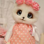 Куклы и игрушки ручной работы. Ярмарка Мастеров - ручная работа Кошечка Пушинка игрушка. Handmade.