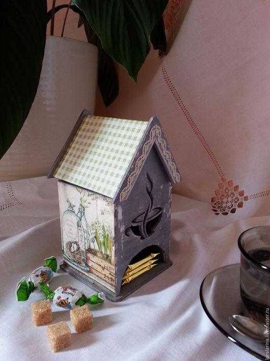 Чайный домик  `Белые гиацинты` сделан в стиле декупаж. Ярмарка Мастеров - ручная работа. Купить чайный домик белые цветы. Handmade. Подарок, интерьерные штучки