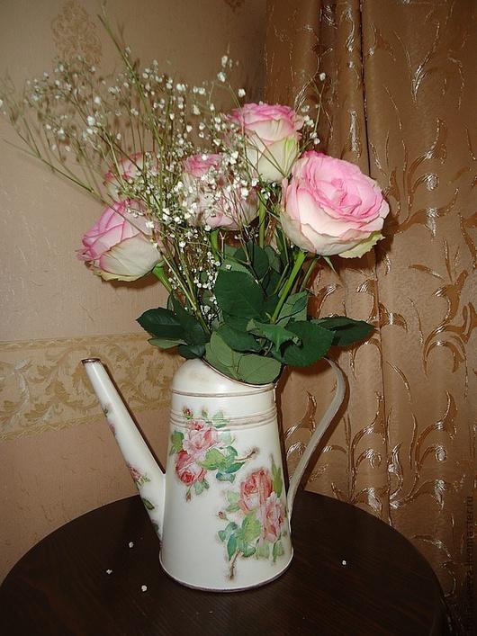 """Комплекты аксессуаров ручной работы. Ярмарка Мастеров - ручная работа. Купить Леечка-ваза """"Ах, эти розы, розы..."""". Handmade."""