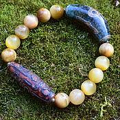 Украшения handmade. Livemaster - original item Bracelet cat eye DZI beads. Handmade.