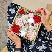 Цветы и флористика handmade. Livemaster - original item Flower box with a toy. Handmade.