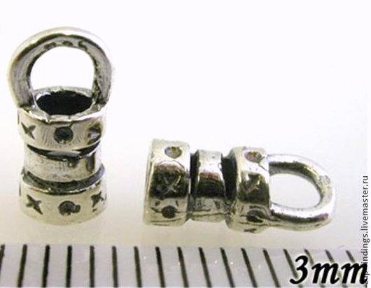 Для украшений ручной работы. Ярмарка Мастеров - ручная работа. Купить 4 размера Концевики серебряные литые для шнуров или лент. Handmade.