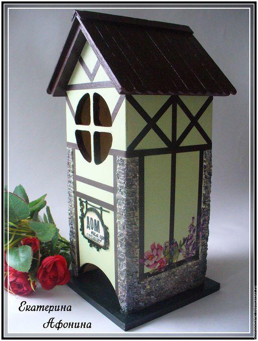 """Кухня ручной работы. Ярмарка Мастеров - ручная работа. Купить Чайный домик в стиле """"Фахверт"""" салатовый. Handmade. Салатовый, фахверк"""