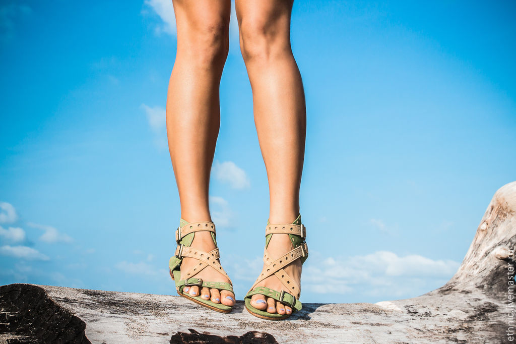 Handmade Shoes handmade. Livemaster - handmade. Buy Sandals made of genuine leather Amazon.Green, beige, summer shoes