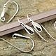 Для украшений ручной работы. Ярмарка Мастеров - ручная работа. Купить 345С Швензы крючки из серебра 925 пробы. Handmade.