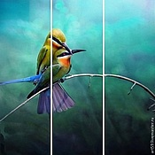 Картины и панно handmade. Livemaster - original item The picture with the birds. Handmade.