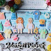 Куклы и игрушки handmade. Livemaster - original item The babies felt with wardrobe. Handmade.