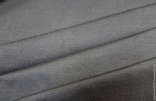 Шитье ручной работы. Ярмарка Мастеров - ручная работа. Купить Джерси чёрное плотное Хлопок с эластаном, ткань Италия. Handmade.
