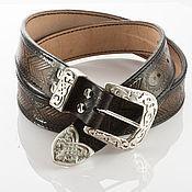 Аксессуары handmade. Livemaster - original item Leather belt with ornament.. Handmade.