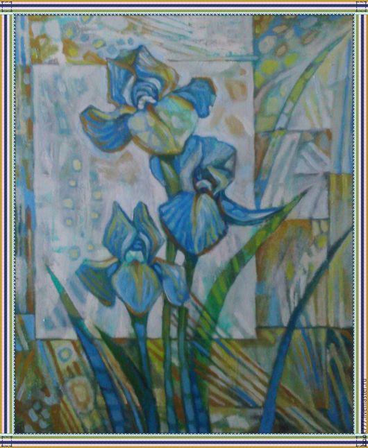 Картины цветов ручной работы. Ярмарка Мастеров - ручная работа. Купить Проснулись птицы, и поют. ( х. м ). Handmade.