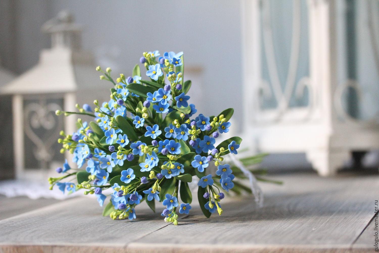 Букеты из цветов незабудки, цветы доставкой алматы
